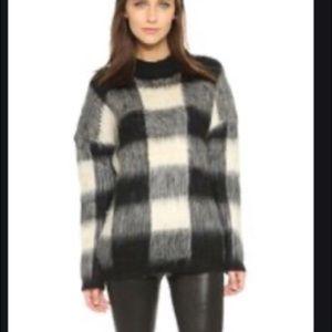 Just Female Plaid Knit Sweater